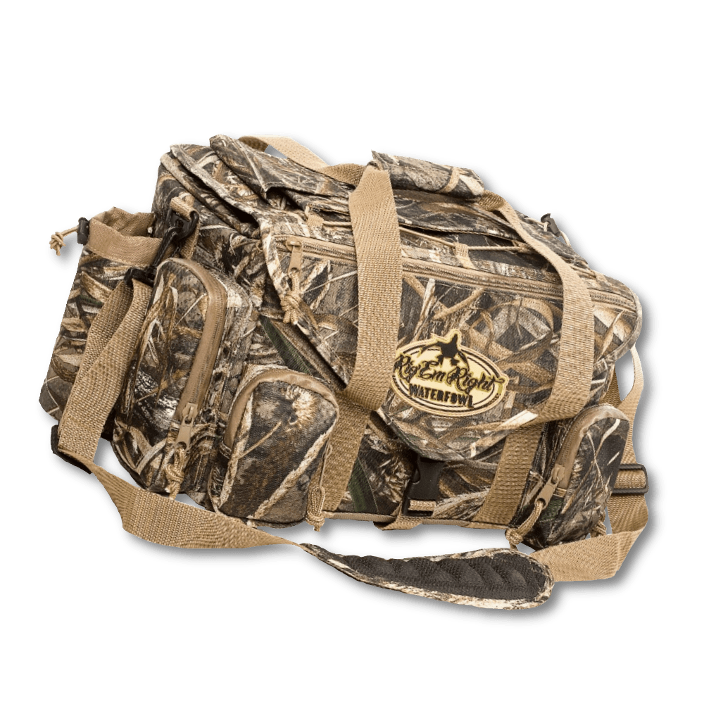 Image of the camo shell shocker bag from Rig 'Em Right