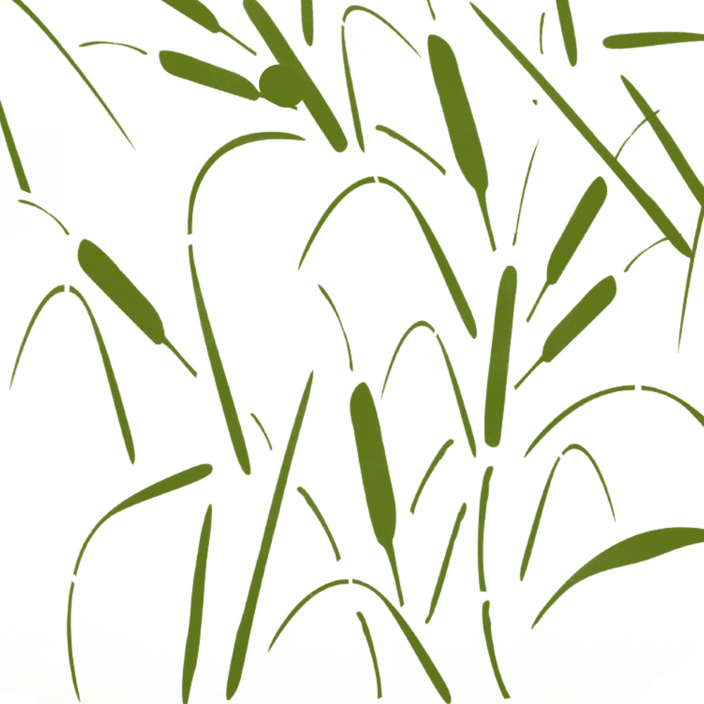 Image of Cattails, Reeds Camo Stencil